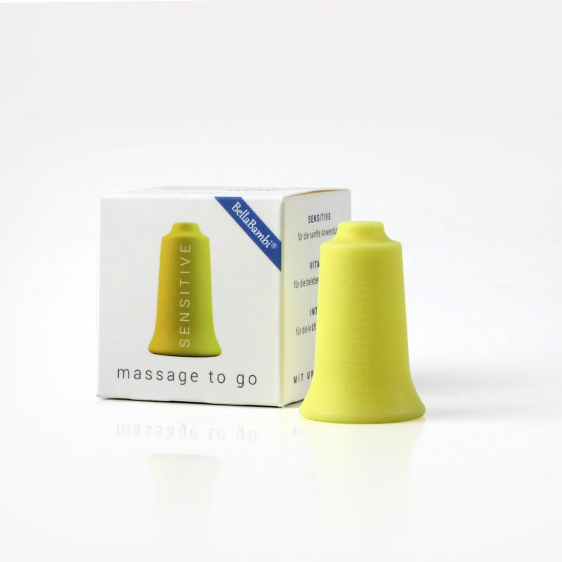 Packaging ventouse Silicone Mini BellaBambi® jaune Sensitive - Massage fasciathérapie