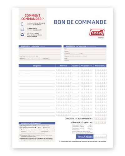 Bon de commande à imprimer SISSEL France